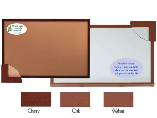4'H x 8'W Heavy-Duty Professional Series Cork Boards with Wood-Look Trim, Oak Wood-Look Finish by Aarco Products Inc
