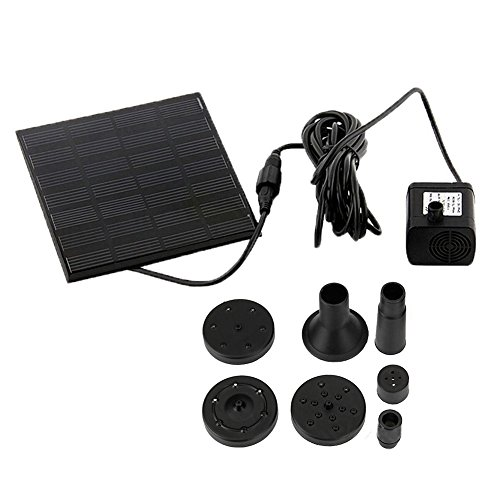 Solar Bird bath Fountain Pump ,floating for Garden and Patio,Solar Panel Kit Water Pump,Outdoor Watering Submersible Pump (Square) by jxwstar
