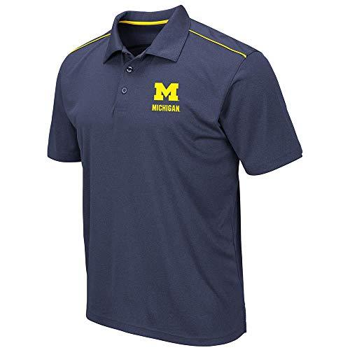Mens Michigan Wolverines Eagle Short Sleeve Polo Shirt - L ()