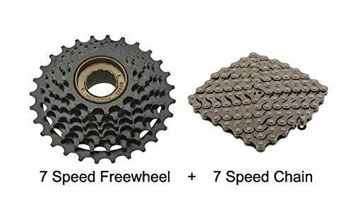 UDee Bicycle Cycle 7S Freewheel Speed 14-28 Teeth + 7S Chain 116 Link Price & Reviews