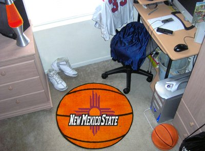 New Mexico Basketball Rug (FANMATS New Mexico State University Basketball Mat)