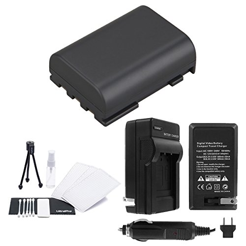 NB-2LH High-Capacity Replacement Battery with Rapid Travel Charger for Select Canon Digital Cameras. UltraPro Bundle Includes: Camera Cleaning Kit, Camera Screen Protector, Mini Travel Tripod ()