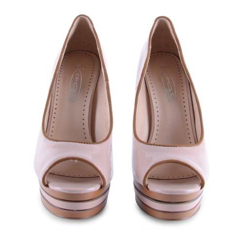 Footwear Sensation - punta abierta de sintético mujer rosa - beige