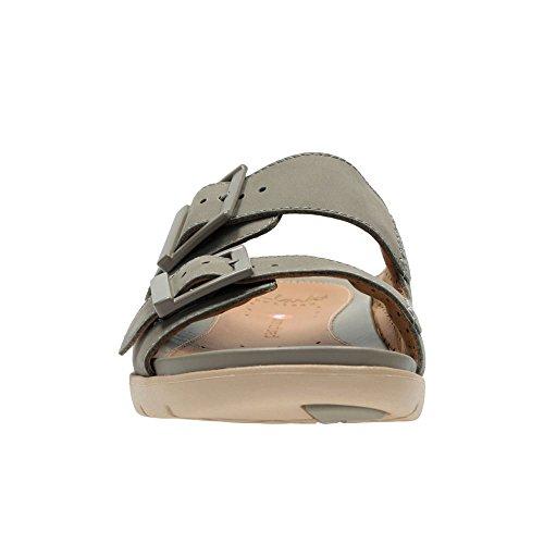 Clarks UN-Harla Damen Casual Sandalen 6 D (M) UK/ 39.5 EU Sage Nubuck