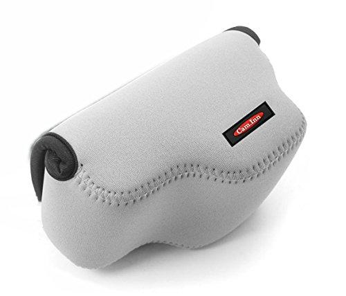 Cam.Inn Gray Compact Neoprene Camera Case Bag for Sony A5000 NEX-5R NEX-5TL Accessories 16-50mm Lens