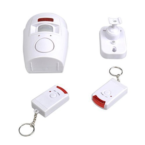 TRIXES Motion Sensor Alarm and Remotes for Home And Business Battery Powered