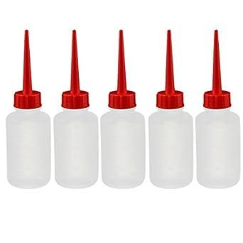 eDealMax 5 x 150 ml de plástico blando recta Pico Botella de aceite Squeeze Frasco dispensador