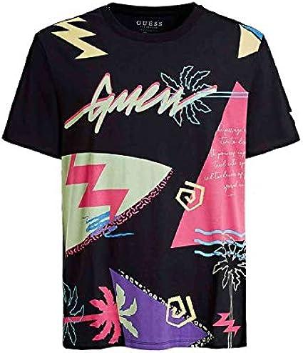 Guess - Camiseta M0GI40I3Z00 CN SS Editorial tee Black - M0GI40I3Z00PTT9 - Black, X-Large: Amazon.es: Ropa y accesorios