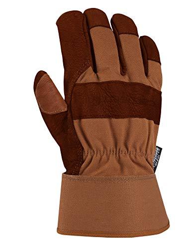 Carhartt Men's Insulated Bison Leather, Brown, Medium (Best Waterproof Insulated Work Gloves)