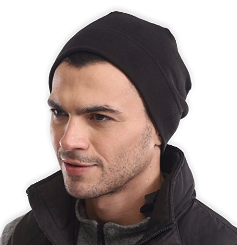 Fleece Winter Beanie Hat - Cold Weather Midweight Watch Cap for Men & Women - Ultimate Thermal Retention and Performance Stretch. Perfect for Sports & Daily Wear
