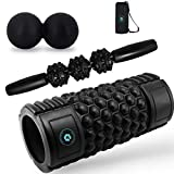 Gillsun Fitness Foam Roller Kit - Includes Peanut Mobility Ball, 12'' High Density Foam Roller Travel Sized Muscle Roller Stick - Perfect fot Yoga, Cross-fit, Active Release
