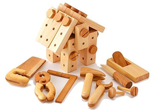山のくじら舎 ちびっこ大工道具セット (グッドトイ選定玩具)   B01MU0IJ9L