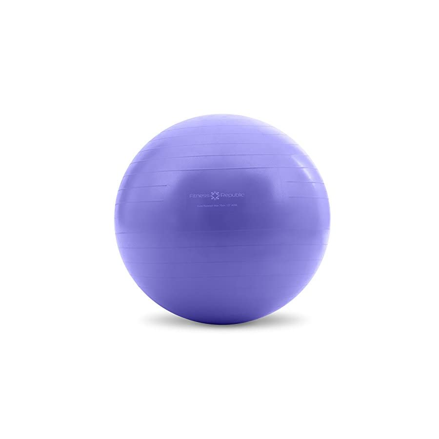 Fitness Republic Stability Ball with Pump (Exercise Ball / Gym Ball)