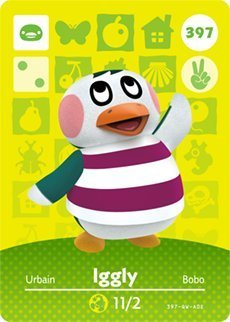 Iggly - Nintendo Animal Crossing Happy Home Designer Series 4 Amiibo Card - 397