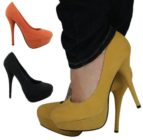 9bdf0939c9cf Womens high heel platform shoes By Envy Cherag (3393S2) Orange UK8 41 10.5   Amazon.co.uk  Shoes   Bags