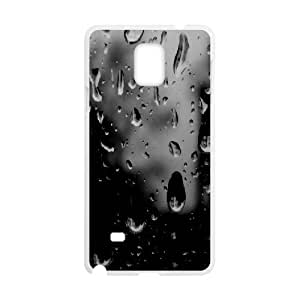 Samsung Galaxy Note 4 Case,Black And White Raindrops On Glass Hard Shell Back Case for White Samsung Galaxy Note 4 Okaycosama402336