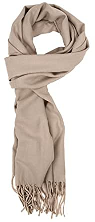 Love Lakeside-Men's Cashmere Feel Winter Solid Color Scarf 0-0 Light Grey