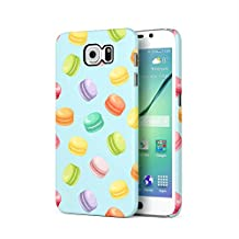 French Rainbow Macarons Pattern Samsung Galaxy S6 Plastic Phone Protective Case Cover