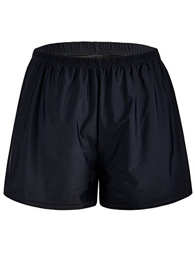 Bottoms Shorts Shorts (Firpearl Women's Swim Board Shorts Sport Boyleg Trunk Swimwear Bottom Black US24)