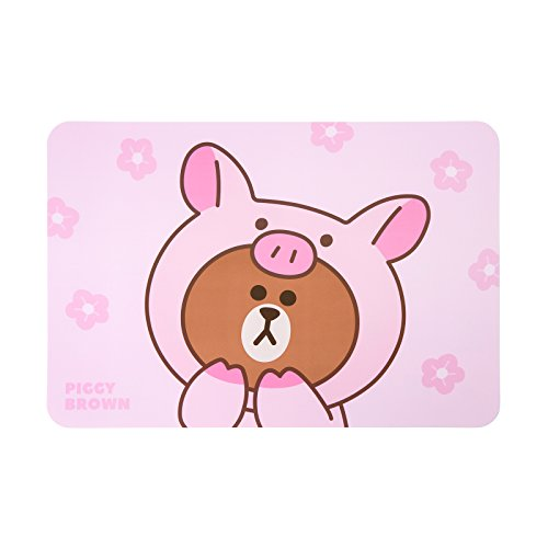 LINE FRIENDS Piggy Brown Table Mats One Size Pink