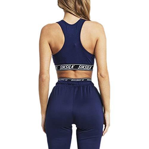 Mujer Racerback Elastic Sik Top Bralette Azul Silk q6SwwTU