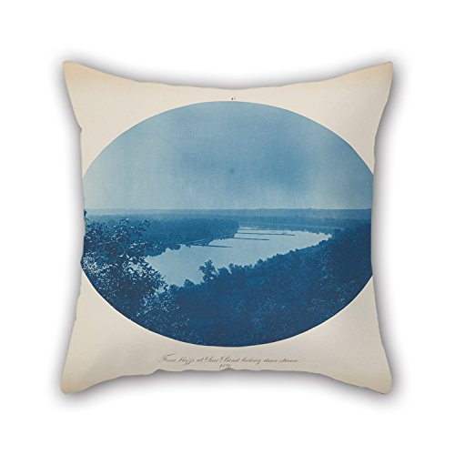 Oil Painting Henry Bosse - From Bluffs At Pine Bend Looking Downstream Cushion Covers 20 X 20 Inches / 50 By 50 Cm For Relatives,bench,home Theater,floor,teens,boys With Double (Boss Bench)