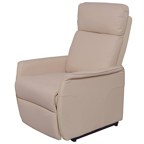 Lift Chair Recliner Sofa Electric Power PU Leather Padded Seat Living Room (Bedroom Rattan Futon Frame)