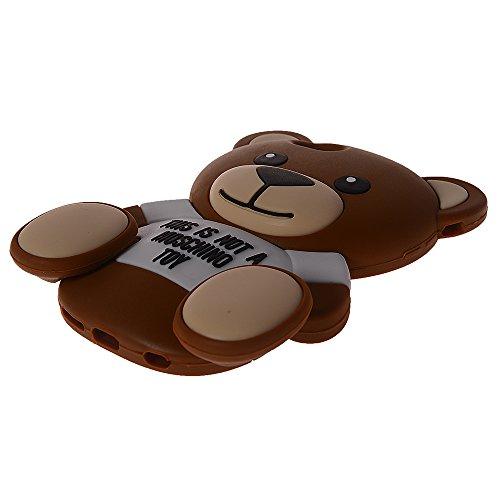 """COOLKE Mode 3D Style Cartoon Soft Rubber de gel de silicone coque Housse étui Case Cover Pour Apple iPhone 6 (4.7"""") - Brown"""