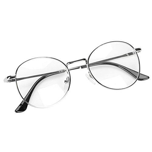 (Unisex Plain Glasses for Reading Readers Play Game Eyeglasses Anti Radiation Reading Glasses)