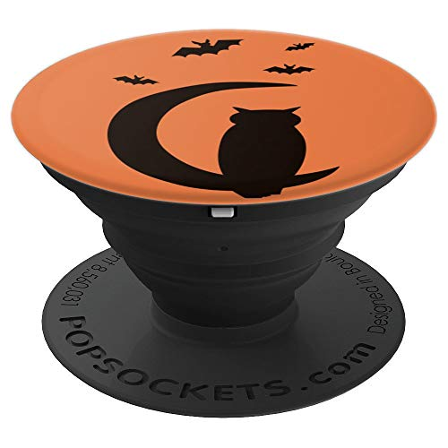 Halloween Owls And Bats Silhouette - PopSockets Grip and Stand for Phones and Tablets
