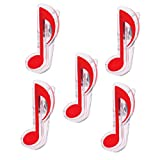 MagiDeal Durable 5 Pieces Plastic Music Note Book Page Clips Holder Music Stand Accessory Musical Parts Red
