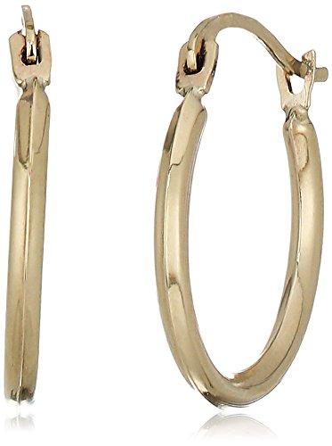 10k Gold Polished 14.5X1.5 Endless Hoop Earrings