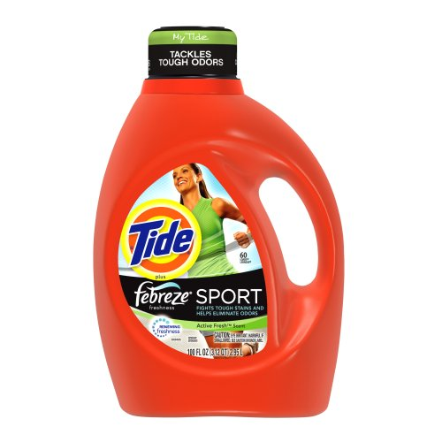 Tide With Febreze Freshness Sport Active Fresh Scent Liquid Laundry Detergent 100 Fl Oz (Pack of 4) by Tide