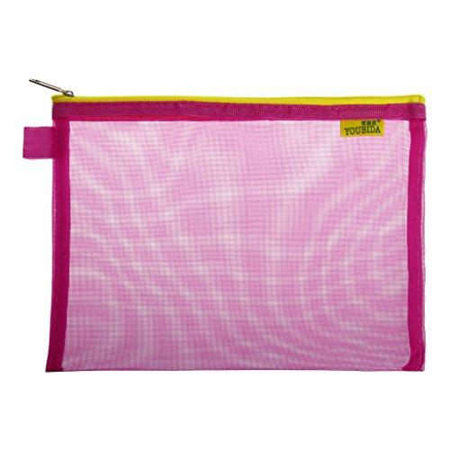 Hot File (Wrisky Nylon Office Document Folder Storage A5 Zipper File Bags File Folder Document Storage Bag (hot pink))
