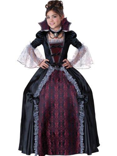 InCharacter Costumes Girl's Vampiress Of Versailles Costume, Black/Red, 12 by InCharacter -