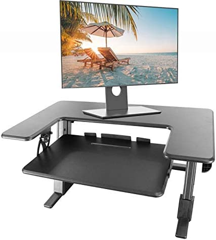 Ergonomic Adjustable Standing Desk Converter Tabletop Sit to Stand Desk Riser US