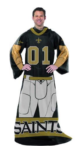 "NFL New Orleans Saints Full Body Player Adult Comfy Throw, 48"" x 71"""