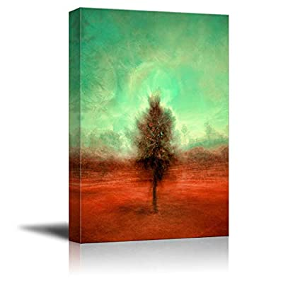 Unbelievable Composition, Abstract Green Sky, Top Quality Design