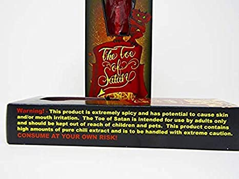 Amazon com : Flamethrower Candy Co Toe of Satan Lollipop One