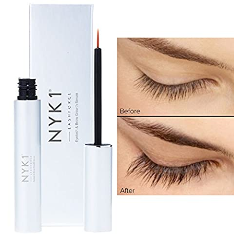 NYK1 Lash Force Growth Serum. The One That Really Works! For Extreme Length & Volume Brows And Lashes. Extra Fill 8Ml Size. The Enhanced Lash Growth - Protein Booster Skin Serum