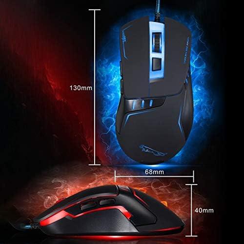 Color : Black Length: 1.45m LIYUNSHU V12 USB 2400DPI Four-Speed Adjustable Wired Optical Gaming Mouse with LED Breathing Light Black