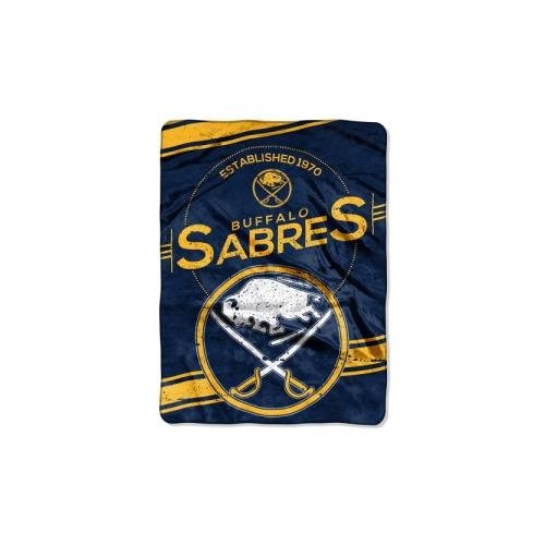 (The Northwest Company Officially Licensed NHL Buffalo Sabres Stamp Plush Raschel Throw Blanket, 60