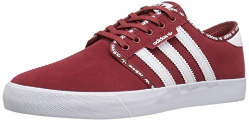 adidas Originals Herren Seeley Fashion Sneaker Geheimnis Rot Weiß / Weiß
