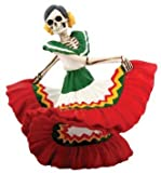 Day of the Dead Dancing Senorita with Red Skirt-7813