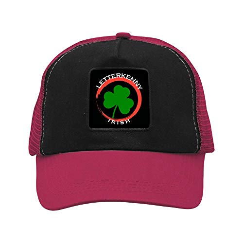 2BO1e Unisex Letterkenny Irish Baseball Mesh Hat,Fashion Adjustable Trucker Hat/Cap Wine red