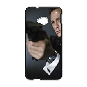 Back Skin Case Shell HTC One M7 Cell Phone Case Black aktery daniel krejg daniel craig dzhejms bond james bond kino lyudi muzhchiny Fppjo Pattern Hard Case Cover