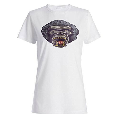 Neues Gorilla Lustiges Tier Niedlich Damen T-shirt i347f