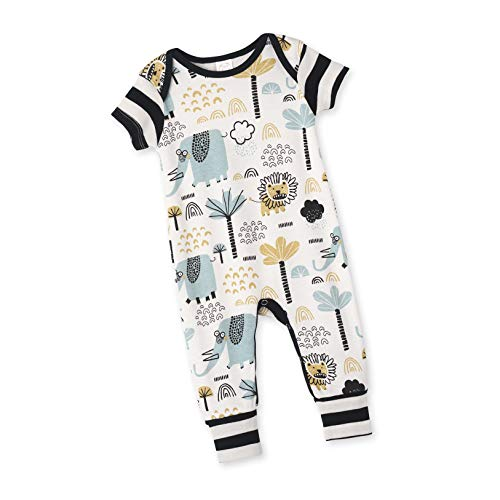 Tesa Babe Romper with Forest & Animals Print for Newborns & Baby Boys (Zoo Crew, 3-6 Months)