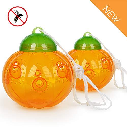 Aspectek HR197 Plastic Gourd for Yellowjackets, 2 Pack, Yellow