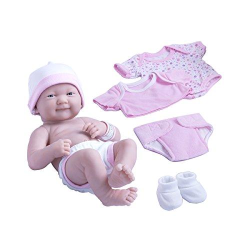 Baby Feels So Real (Berenguer Dolls 18543_La Newborn 8 Piece Layette gift set, 14-inch ,)